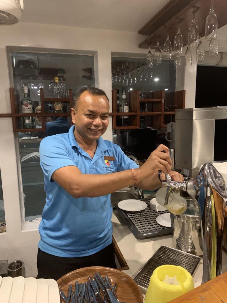 Barman Ajith on the Carpe Novo Maldives