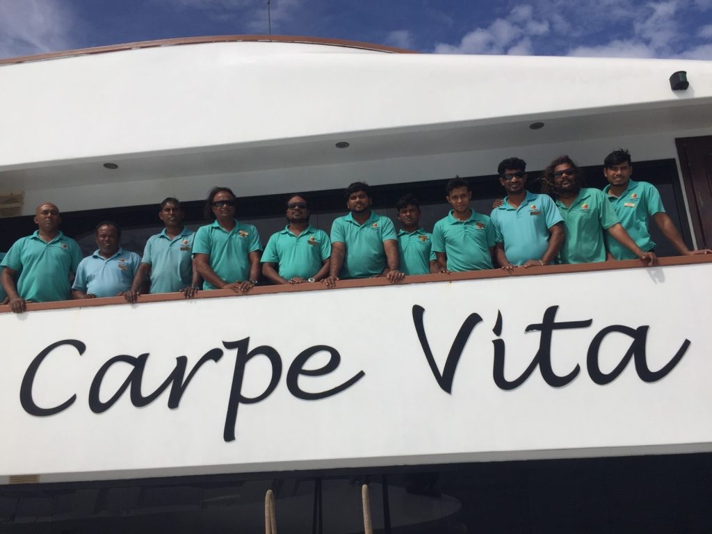 Crew of Carpe Vita Maldives